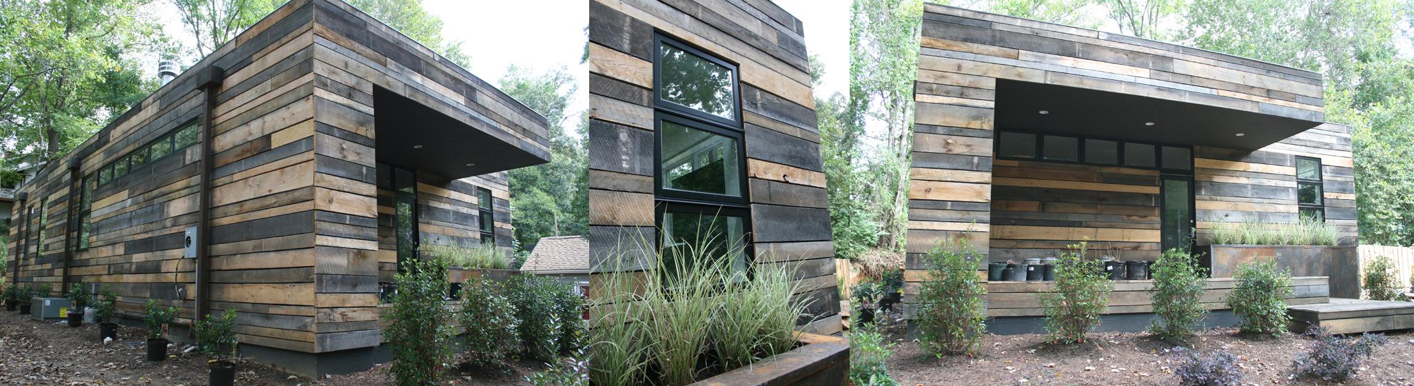 a rustic modern exterior