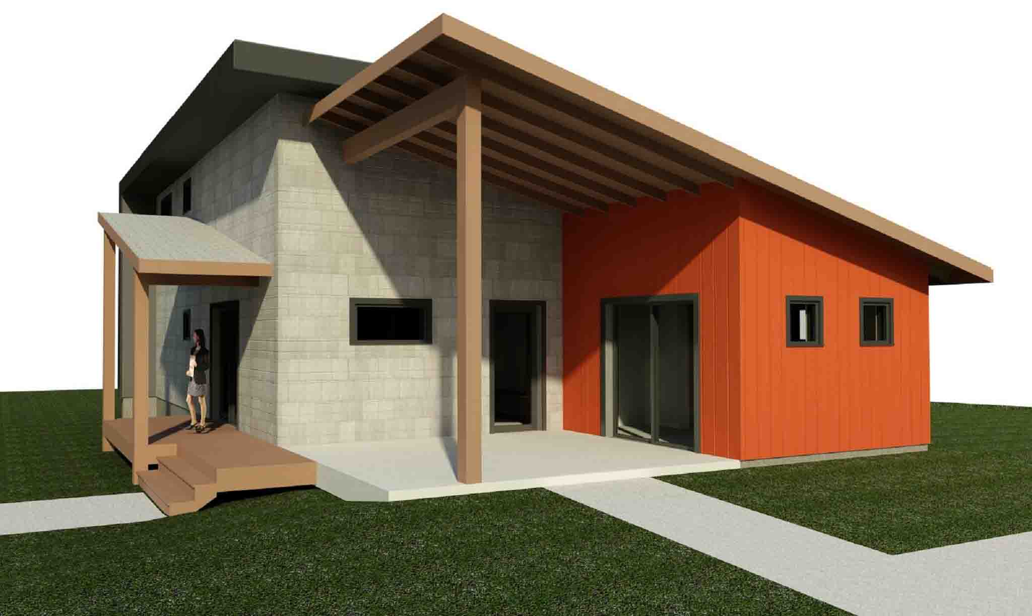 Modern shed roof architecture for Modern shed roof house plans