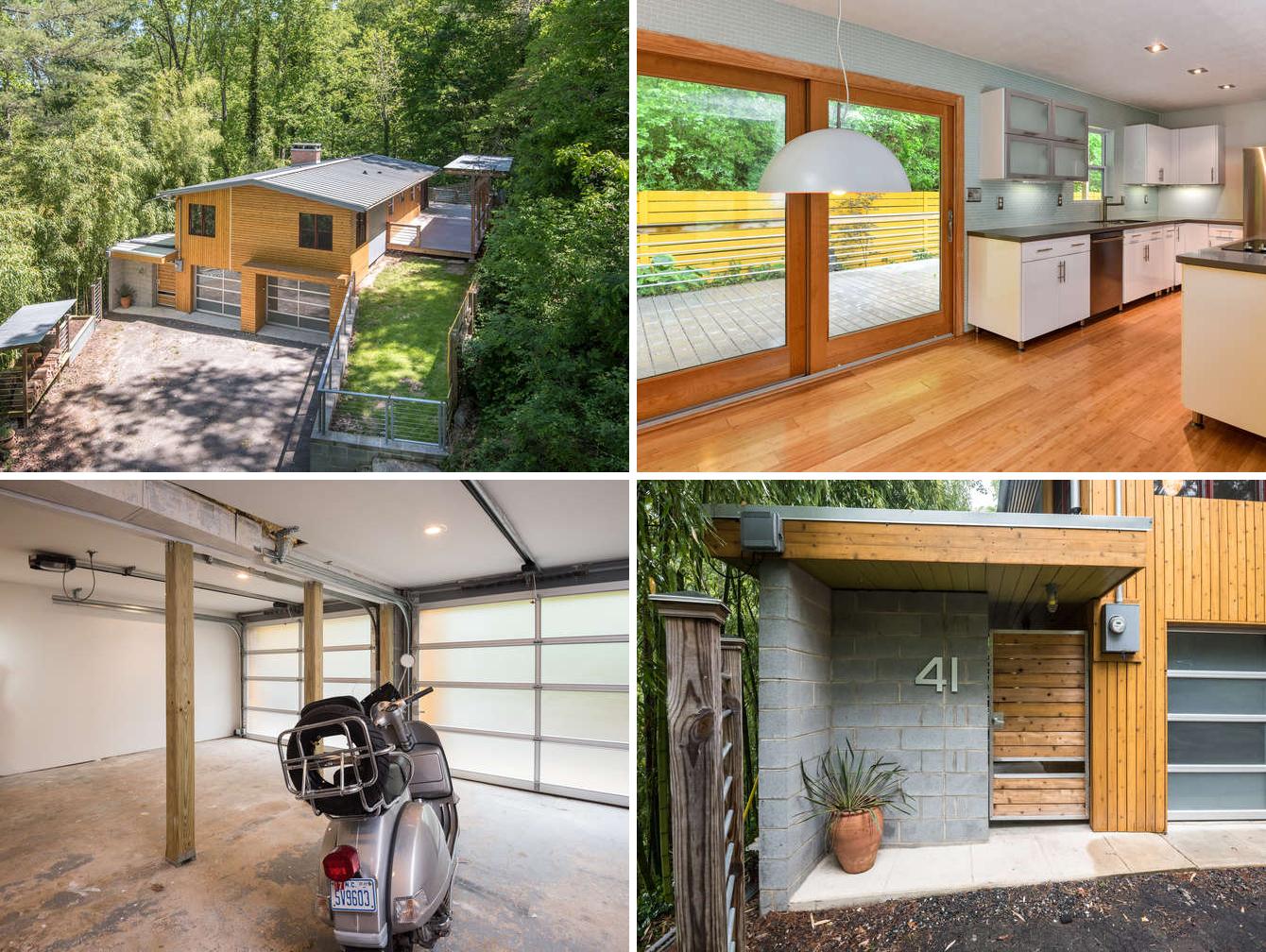 Renovated the homes details include seamless metal roof 1 2 round gutters insulation argon jeldwen wooden windows cedar siding glass garage doors